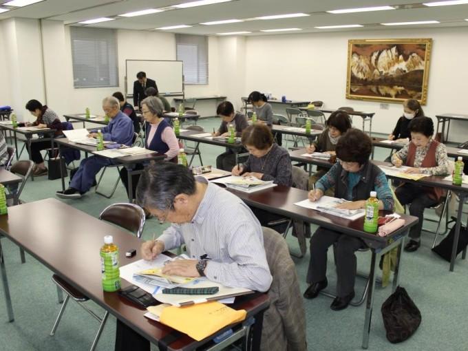 前沢販売店とKS富山合同 天地人書き写し教室開催!