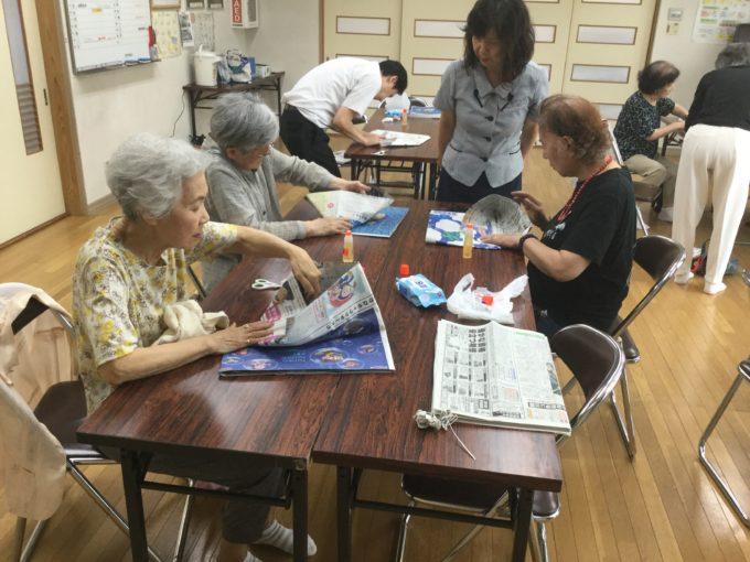堀川町いきいき運動教室でのエコバック作り