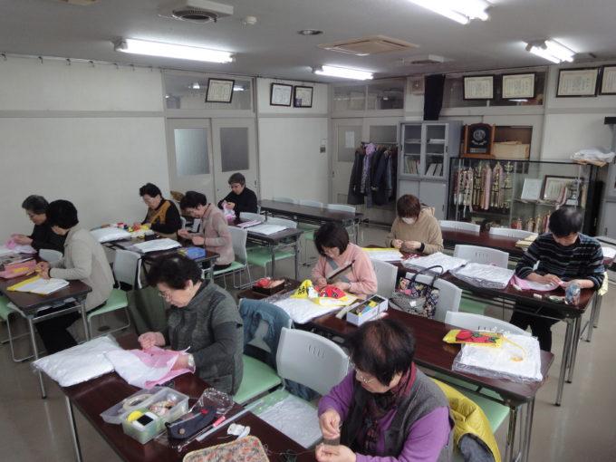 定塚公民館 キティタオルクッション教室
