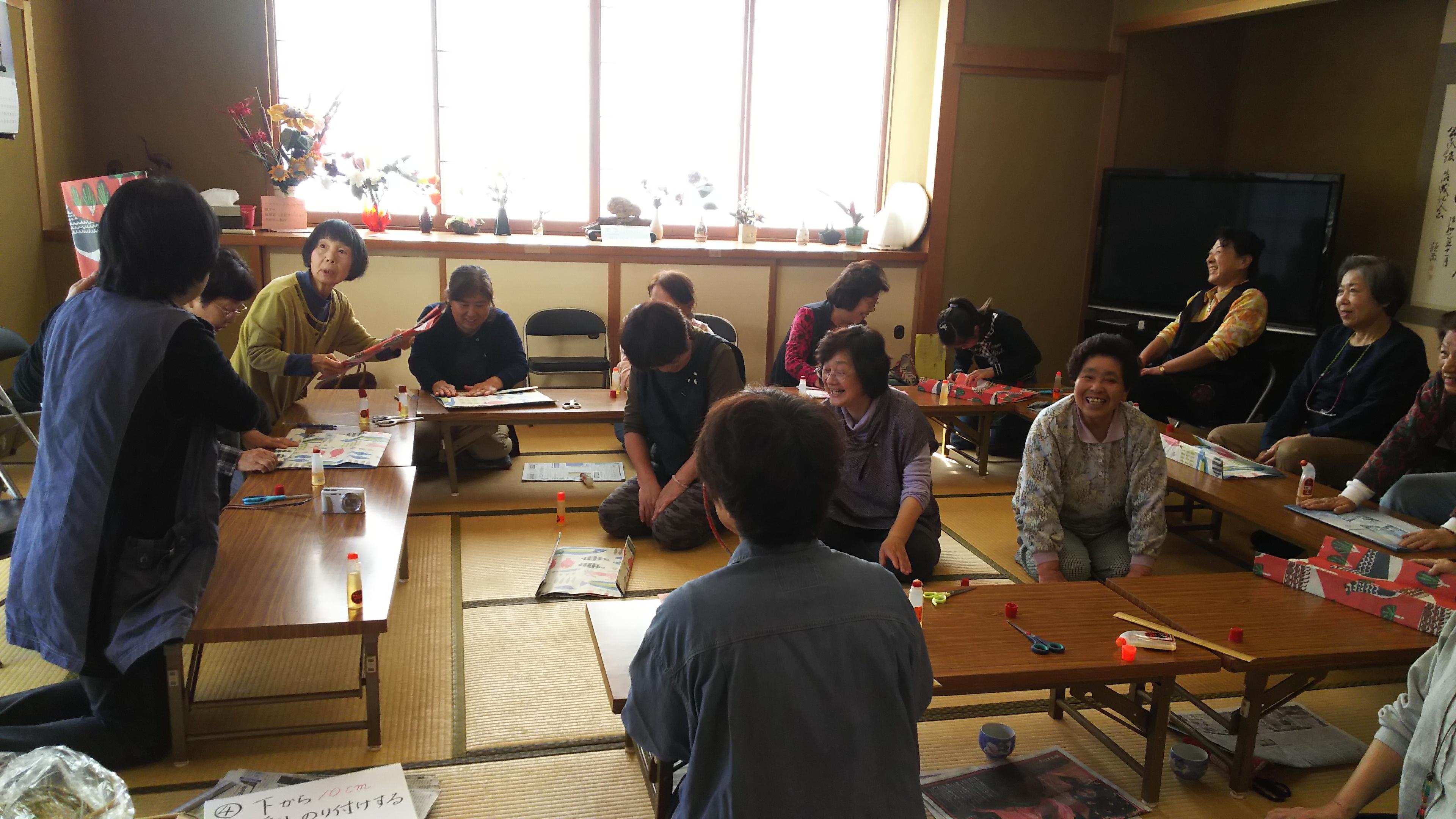 KS立山では初のエコバッグ教室開催