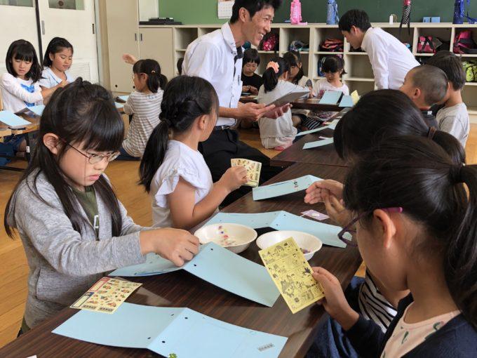 桜谷小学校で写真立て作りを開催!