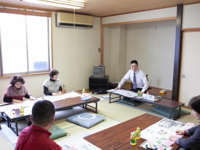 新聞エコバッグ教室を開催いたしました。