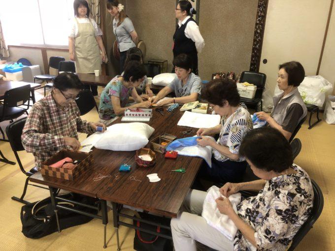 KS富山で初めてクッション作り教室を開催!