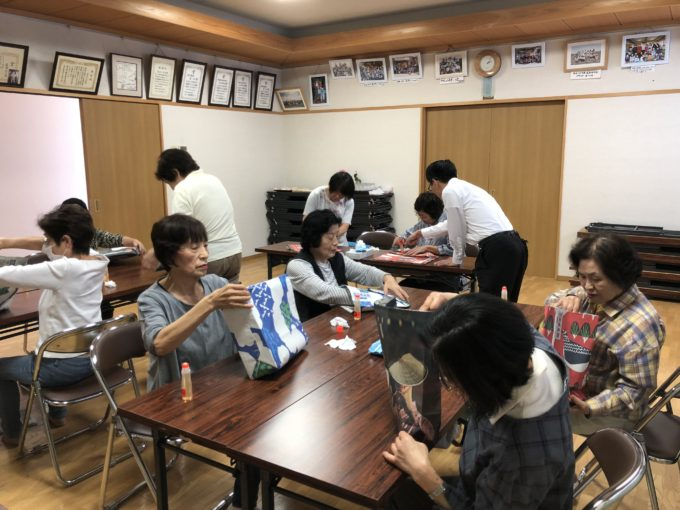 萩原町公民館 エコバック教室開催